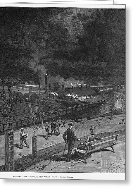 Ironworkers Greeting Cards - Richmond: Iron Works, 1887 Greeting Card by Granger