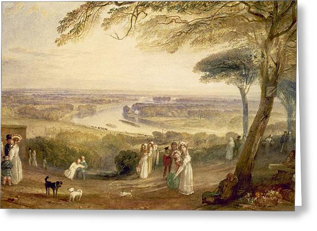 Richmond Terrace Greeting Card by Joseph Mallord William Turner