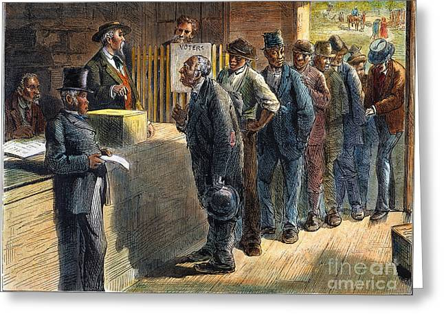 Voting Rights Greeting Cards - Richmond: Voting, 1871 Greeting Card by Granger