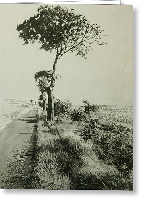 Photo Realism Greeting Cards - Richs Tree Greeting Card by John Vogt
