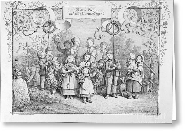 Richter Greeting Cards - Richter: Children Greeting Card by Granger