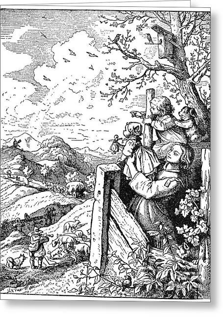 Richter Greeting Cards - Richter Illustration Greeting Card by Granger