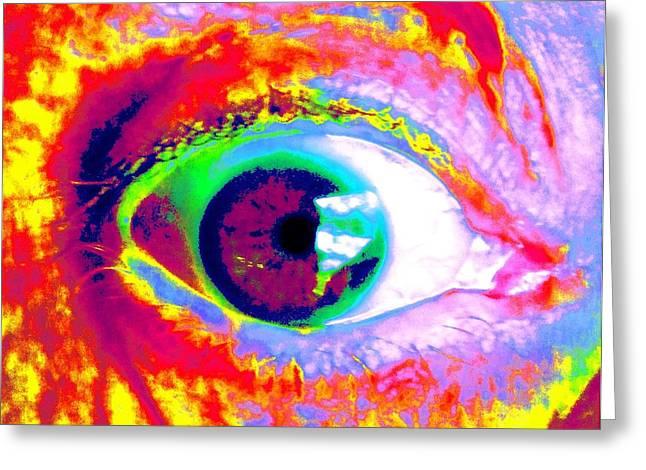 Rico's Eye Greeting Card by Renate Nadi Wesley