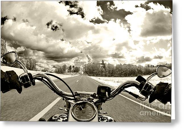 Road Greeting Cards - Ride Free Greeting Card by Micah May