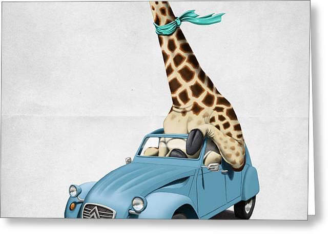 Riding High Greeting Card by Rob Snow