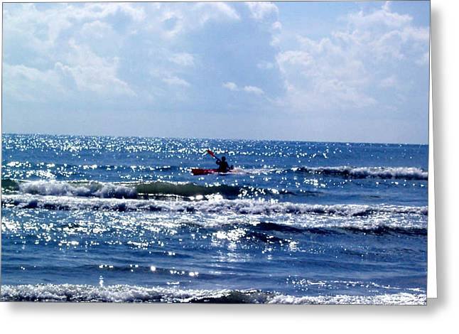 Ocean Photography Pastels Greeting Cards - Riding the waves Greeting Card by Evelyn Patrick