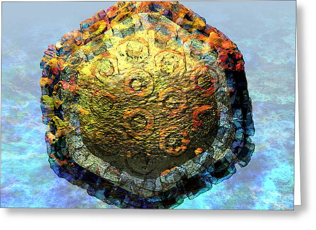 Virological Digital Art Greeting Cards - Rift Valley Fever Virus 2 Greeting Card by Russell Kightley