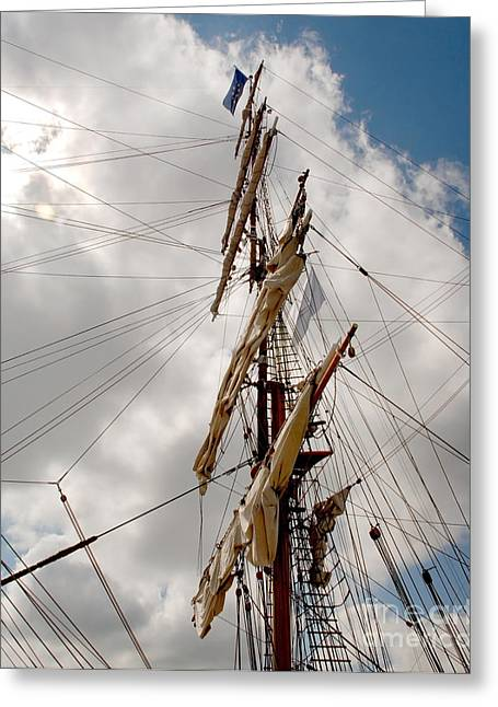 Square Rigger Greeting Cards - Rigging II Greeting Card by John  Fix