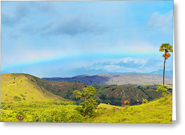 Park Scene Greeting Cards - Rinca panorama Greeting Card by MotHaiBaPhoto Prints