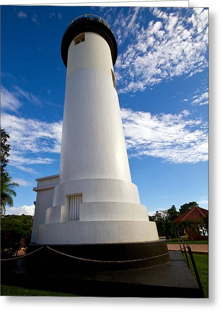 Rincon Greeting Cards - Rincon Lighthouse  Greeting Card by Tim  Fitzwater