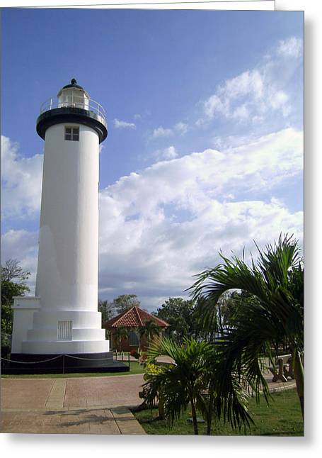 Rincon Beach Greeting Cards - Rincon Puerto Rico Lighthouse Greeting Card by Adam Johnson
