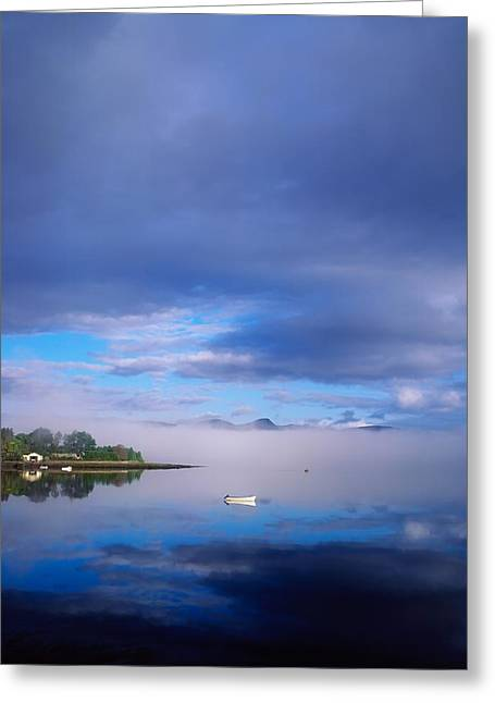 Best Sellers -  - Boats In Reflecting Water Greeting Cards - Ring Of Kerry, Dinish Island Kenmare Bay Greeting Card by The Irish Image Collection