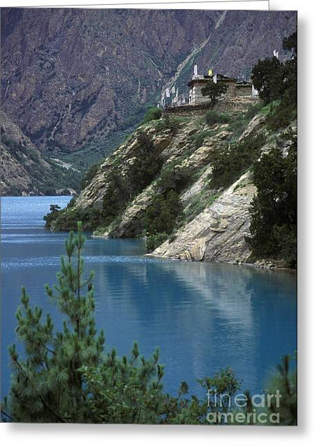 Buddhist Region Greeting Cards - Ringo Lake - Dolpo Nepal Greeting Card by Craig Lovell