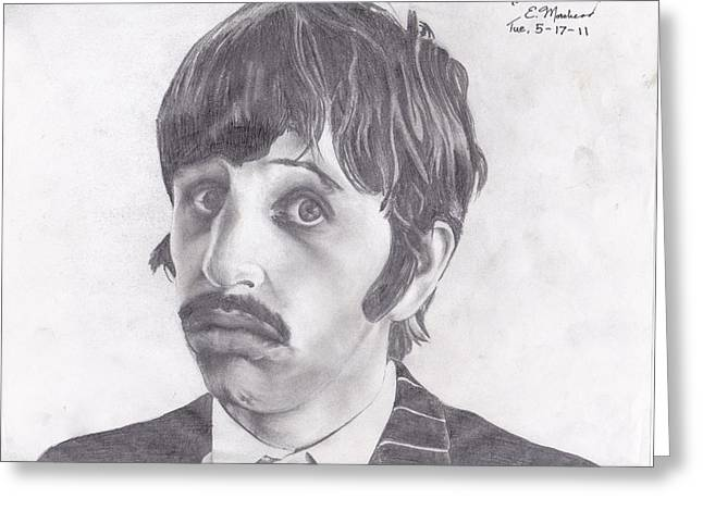 Ringo Starr Drawings Greeting Cards - Ringo Starr Greeting Card by Ethan Morehead