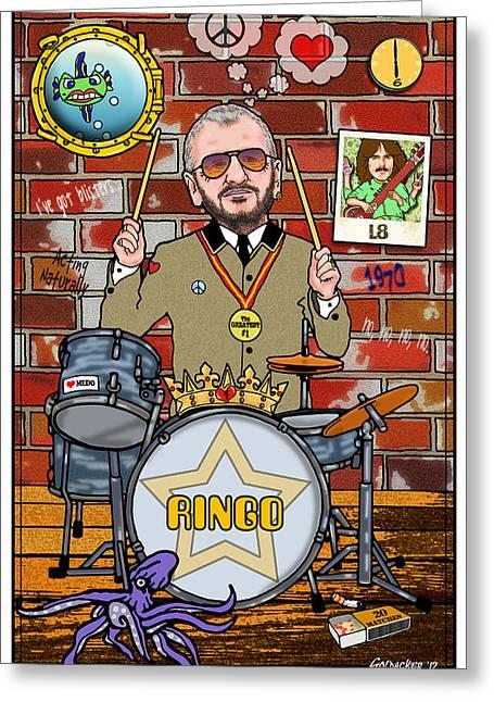 Ringo Starr Greeting Card by John Goldacker