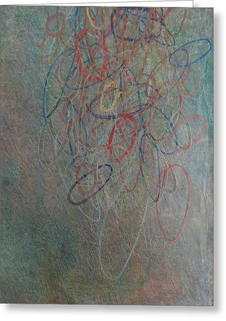 Circle Pastels Greeting Cards - Rings Raining Down II Greeting Card by Jacob Stempky