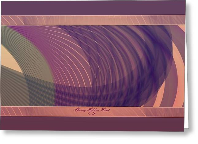 Muted Mauve Greeting Cards - Rings Greeting Card by Sherry Holder Hunt