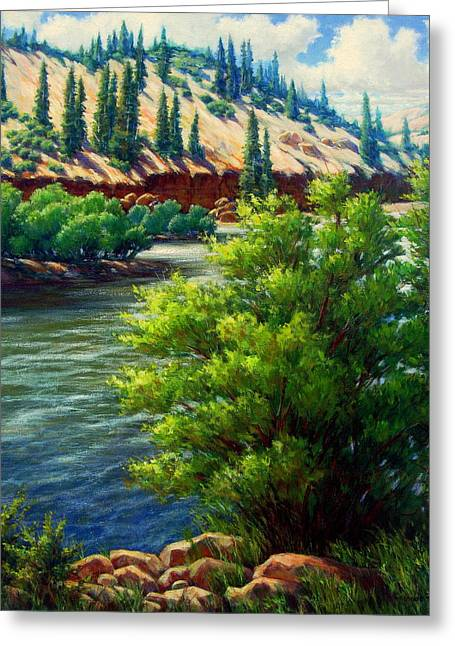 Rio Grande Colorado Greeting Card by Vickie Fears