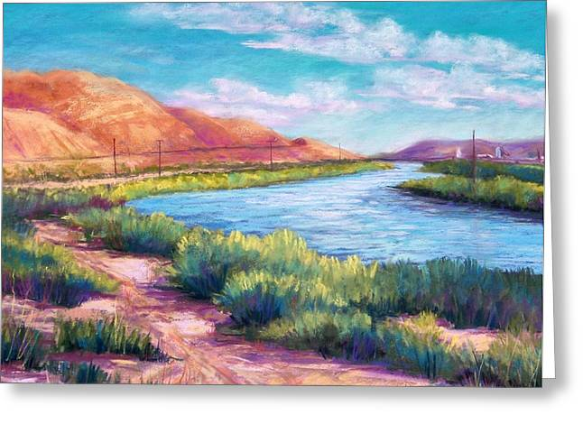Border Pastels Greeting Cards - Rio Grande from the South Greeting Card by Candy Mayer