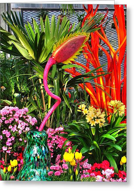 3 Exposure Greeting Cards - Riotous Color Greeting Card by Chris Anderson