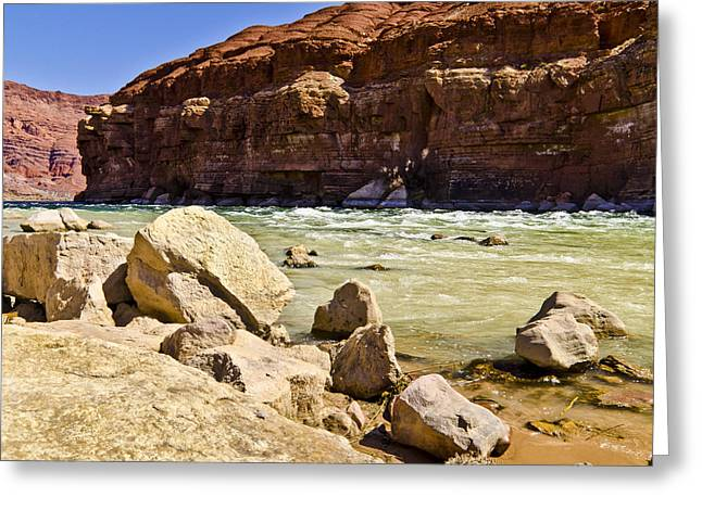 Northern Arizona Greeting Cards - Ripple in the river Greeting Card by Jon Berghoff