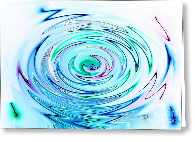 Ripple Greeting Card by Glimpses Prasad Datar-Archana Padhye Photography