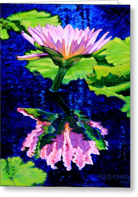 Reflection In Water Greeting Cards - Ripple Reflections of Beauty Greeting Card by John Lautermilch