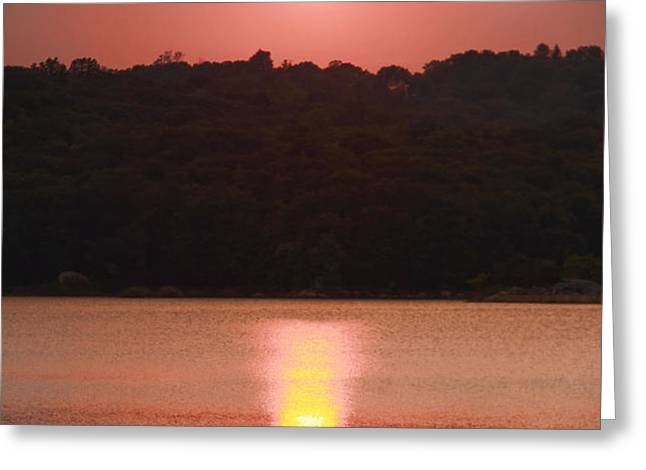 Ripples Of Sunset Greeting Card by Daphne Sampson