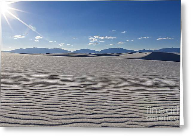 Scotts Scapes Greeting Cards - Rippling White Sands n Sun Greeting Card by Scotts Scapes