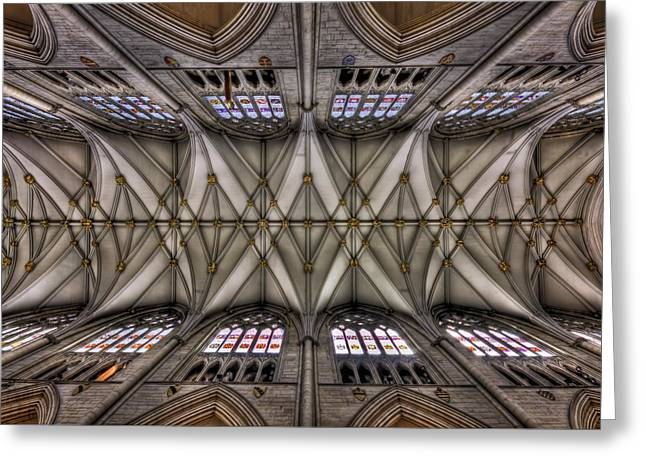 Ceiling Greeting Cards - Rise Above Greeting Card by Evelina Kremsdorf
