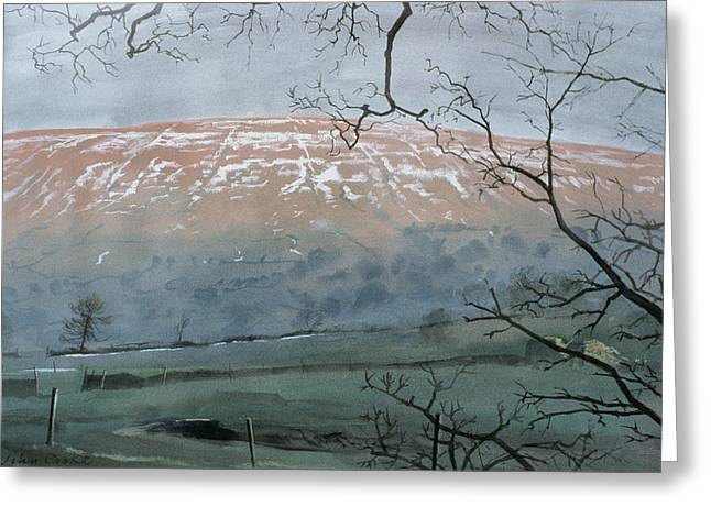 Rise Hill In December Greeting Card by John Cooke