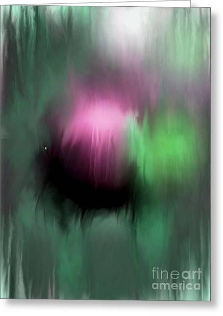 Abstract Expressionist Digital Greeting Cards - Rising 2 Greeting Card by John Krakora