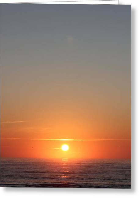 Rising Of The Sun Greeting Card by Static Studios