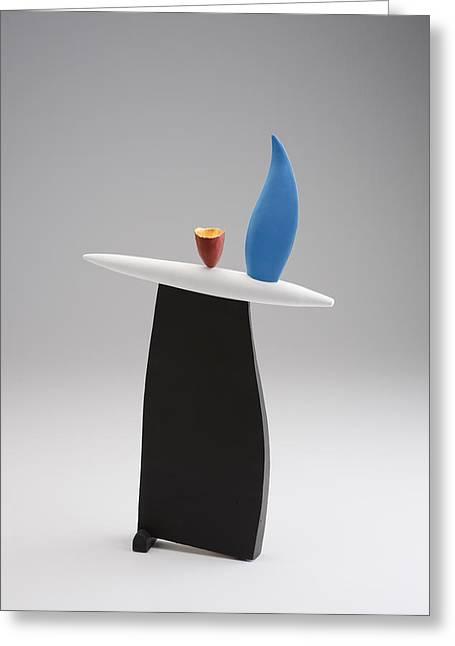 Abstract Ceramics Greeting Cards - Rising Greeting Card by Patricia  Volk
