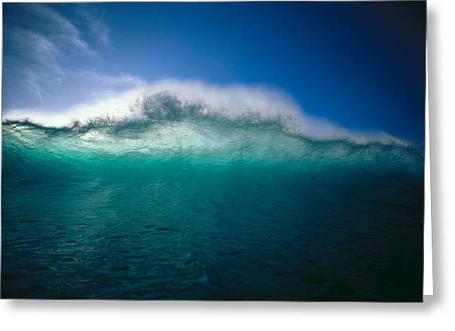 Ocean Art Photos Greeting Cards - Rising Wave Greeting Card by Vince Cavataio - Printscapes