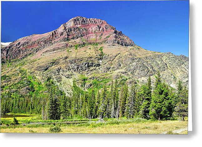 Glacier National Park Greeting Cards - Rising Wolf Mountain Greeting Card by Greg Norrell