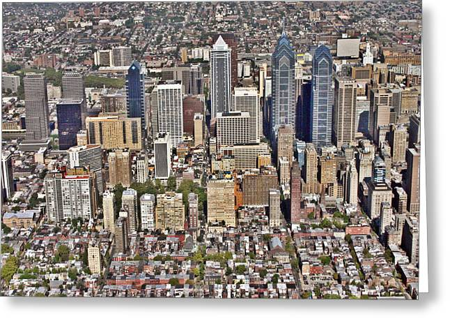 Pearson Aerial Greeting Cards - Rittenhouse Square Area Philadelphia Greeting Card by Duncan Pearson