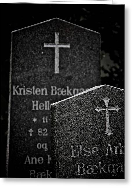 Headstones Greeting Cards - Ritual Greeting Card by Odd Jeppesen