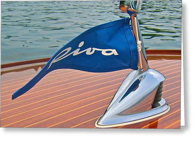 Italian Lake Greeting Cards - Riva Bow Flag Greeting Card by Steven Lapkin