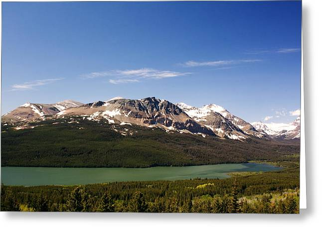Montana Landscapes Photographs Greeting Cards - River and Mountain Greeting Card by Amanda Kiplinger