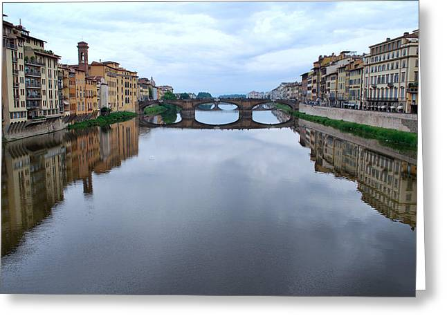 Italian Landscapes Greeting Cards - River Armo. Greeting Card by Terence Davis
