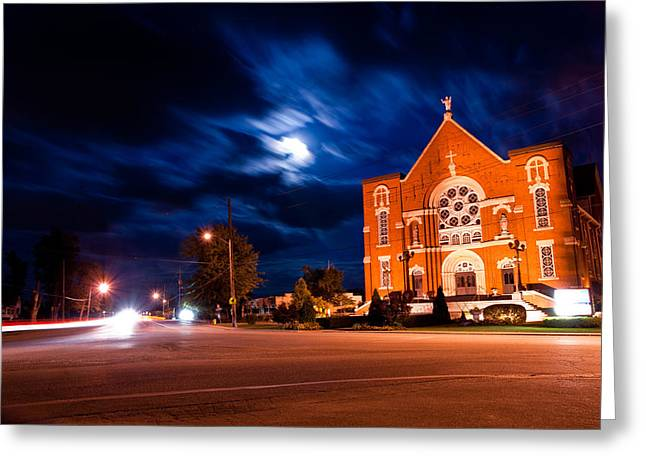 Headlight Greeting Cards - River Canard Church Greeting Card by Cale Best