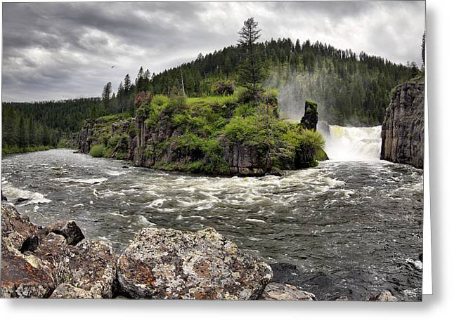 Idaho Photographs Greeting Cards - River Course Greeting Card by Leland D Howard