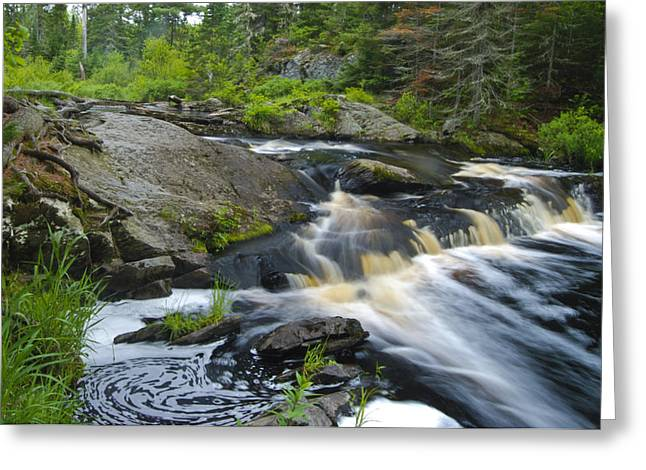 Rocks. Tidal Pool Greeting Cards - River Flow V Greeting Card by Sean Holmquist