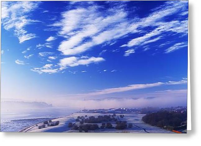 Foggy Ocean Greeting Cards - River Foyle, Co Derry, Northern Ireland Greeting Card by The Irish Image Collection