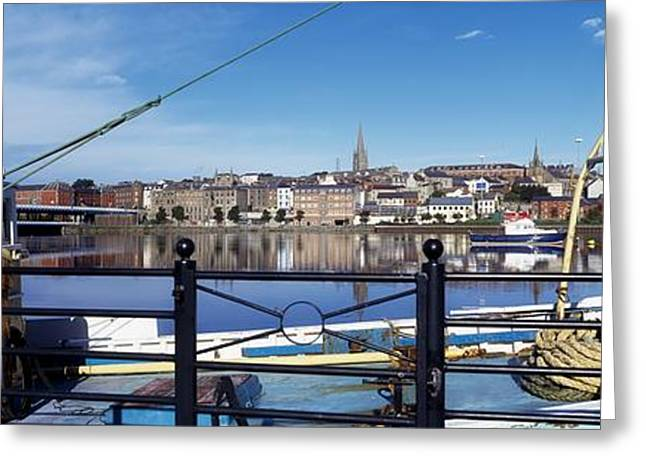 Saloons Greeting Cards - River Foyle, Derry City, Co Derry Greeting Card by The Irish Image Collection