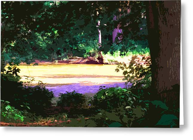 River View Digital Art Greeting Cards - River Glen Hollow Greeting Card by Charlie Spear