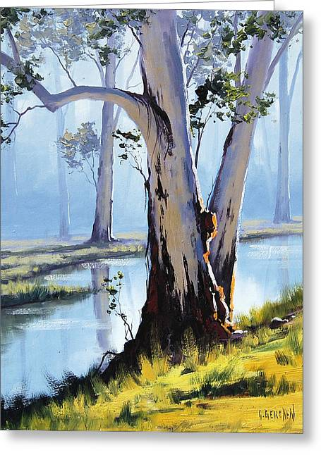 Old Tree Greeting Cards - River Gum Greeting Card by Graham Gercken