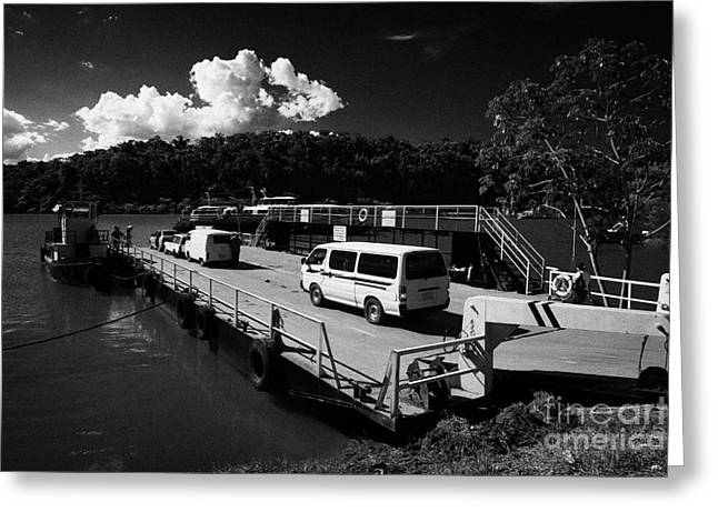 Paraguay Greeting Cards - River Iguazu Ferry Crossing From Argentina To Paraguay Puerto Iguazu Argentina Greeting Card by Joe Fox