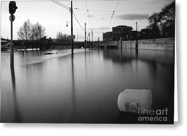 Best Sellers -  - Sweating Photographs Greeting Cards - River in street Greeting Card by Odon Czintos